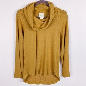Anthropologie Maeve Yellow Cowl Neck Sweater XS